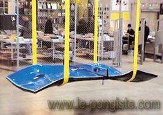 Tables de ping-pong insolites