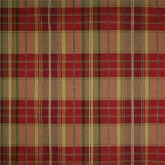 A9150 Flame plaid in red and yellow color : fabric by the yard for custom window treatments: shades, draperies, top treatment   BestWindowTreatments.com