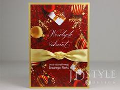 Wyjątkowe katki bożonarodzeniowe ręcznie robione w kolorystyce czerwono-złotej. Design, Style, Swag