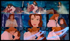 this is the best animated kiss ever! It really captures the love between belle and the beast!