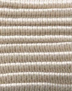 How to knit horizontal pleats