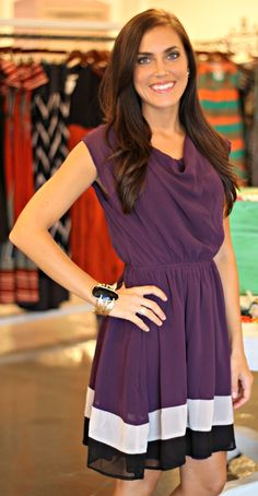 Chiffon Purple Dress $48
