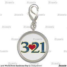 3-21 World Down Syndrome Day Charms by #TodaysEvent  #gravityx9 #321 -