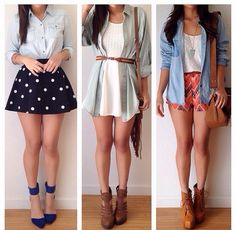 Spring outfits.