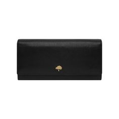 ed4643c18a Tree Continental Wallet in Black Glossy Goat