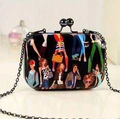 New Mini Evening Bag Fashion Candy Color Women Messenger Bags Day Clutch Long Chain Shoulder Bag Vintage Women Day Clutch