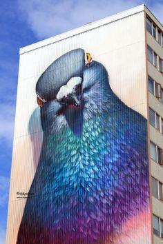 Street Art Mural by 'Super A' 3d Graffiti Street Art, Graffiti Kunst, Urban Graffiti, Graffiti Murals, Mural Art, Wall Art, Banksy, 3d Street Painting, Urbane Kunst
