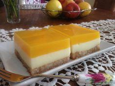 Γλυκό ψυγείου με κρέμα και χυμό πορτοκάλι