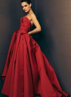 dress, red dress, evening dress, вечернее платье, красное платье, платье на выпускной, корсетное платье Zac Posen коллекция | Коллекции осень-зима 2018/2019 | Нью-Йорк | VOGUE
