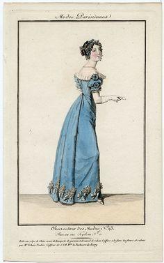 Modes Parisiennes 1820. Regency fashion plate.