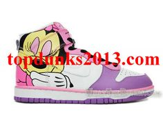 super popular b1b4c d5620 Best Price Custom Brass Monky Foto Minnie Mouse High Top Nike Dunk Nike  High Tops,