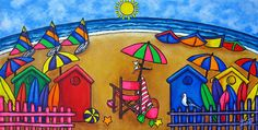 Beach Colours Painting by Lisa Lorenz - Beach Colours Fine Art Prints and Posters for Sale