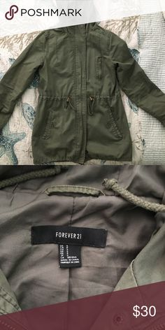 army jacket keeps you warm and is very comfortable Forever 21 Jackets & Coats Utility Jackets