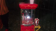 We filled this popcorn machine up with lots of bloody parts from Spirit Halloween to add to our killer carnival. Everyone loved it!