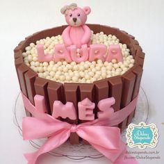 Bolo Ursa para comemorar 1 mês de vida da Laura