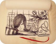 Bocetos...(bolígrafo negro)