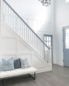 Grid Board and Batten Foyer Grid Board and Batten Best Ideas for Grid Board and Batten paneling #GridBoardandBatten #foyer #GridBoardandBattenpaneling #Grid #BoardandBatten #paneling All sources on Home Bunch