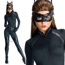 Official Deluxe Catwoman Superhero Batman Dark Knight Rises Fancy Dress Costume