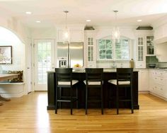 White Kitchen With Black Appliances Design, Pictures, Remodel, Decor and Ideas - page 11