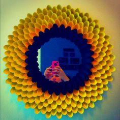 Flower spoon mirror