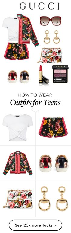 """""""Presenting the Gucci Garden Exclusive Collection: Contest Entry"""" by ionacampbell on Polyvore featuring New Look, Gucci and gucci"""