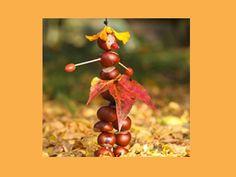 Brico-automne: Bricolage : la marionnette-châtaigne