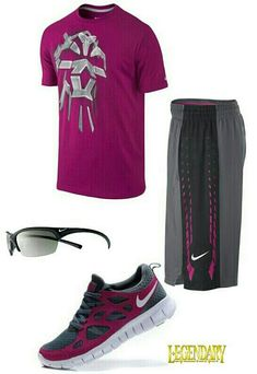Burgundy gray nike outfit