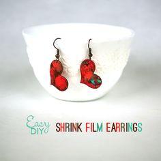 How to Make Shrink Film Earrings @savedbyloves