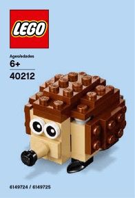 View LEGO instructions for Hedgehog set number 40212 to help you build these LEGO sets