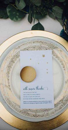 Macaron and thank you for wedding favor  Magical, Astronomy Inspired Shoot | WeddingDay Magazine