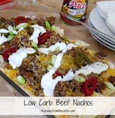 Looking for the perfect party appetizer? Try these low-carb beef nachos--perfect for parties!