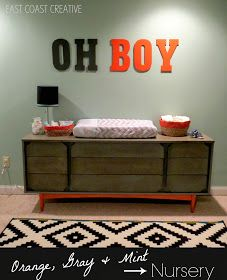 East Coast Creative: Orange, Gray & Mint Nursery Reveal