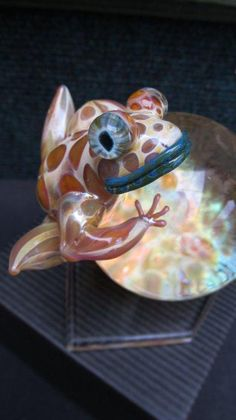 Glass frog on Orb by WayneRobbins on Etsy