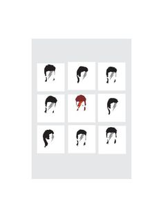 Pop art the beatles greeting card gifts musicroom pop art bowie contact sheet greeting card gifts musicroom m4hsunfo
