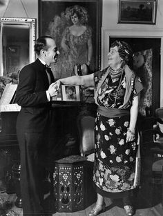 Florence Foster Jenkins with her accompanist, Cosme McMoon