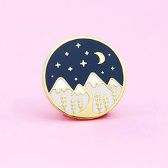 Mountain Pin by thecleverclove
