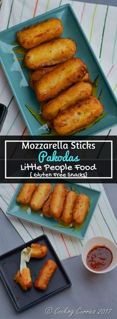 Mozzarella Sticks Pakodas | Little People Food Snacks An Indian twist to the popular mozzarella sticks snack, kids and adults will equally love these Mozzarella Sticks Pakoras and it is gluten free too! Kid friendly snack