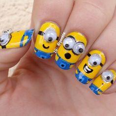 Atractivas uñas decoradas con personajes minions | Moda y Tendencias