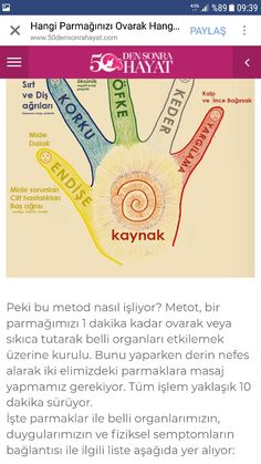 Parmaklara masaj