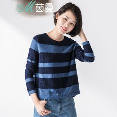 INMAN Women's Autumn new Irregular Striped Loose sweater pullover Winter #INMAN #sweaters #women_clothing #stylish_sweater #style #fashion