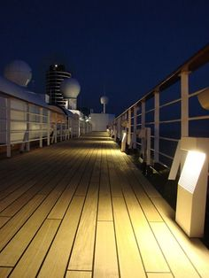 Night deck view on the ms #Noordam via Joan K. #ViewsonDeck