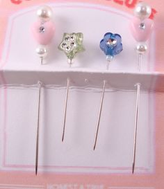 Decorative Pincushion Pins Embellishment by purelysimpledesigns