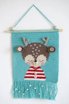 Crochet Wall Art, Crochet Deer, Crochet Lion, Crochet Wall Hangings, Crochet Dragon, Newborn Crochet, Tapestry Crochet, Crochet Bunny, Crochet Patterns Amigurumi