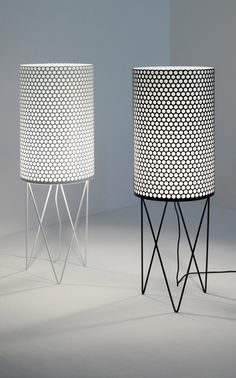 "Pedera ""PD2"" floor lamp – minimalistic design in black and white 