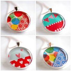 Washi tape pendants