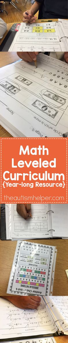 Leveled Math Curriculum that will last you the entire year!!! by theautismhelper.com