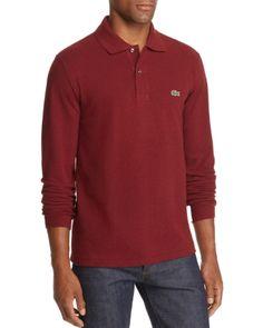 Lacoste Long Sleeve Polo Shirt Bordeaux Lacoste Long Sleeve Polo Shirts