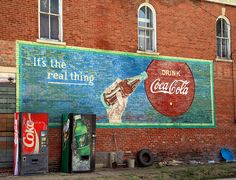 coke ghost sign | us real thing sign edwardsport in 4 4 2010 nice coke sign found in ...