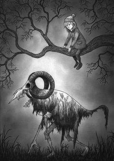 John kenn mortensen,artist цифровое искусство в 2019 г. Creepy Drawings, Dark Art Drawings, Monster Drawing, Monster Art, Arte Horror, Horror Art, Fantasy Kunst, Fantasy Art, Image Triste