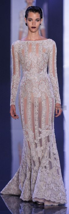 Ralph & Russo Fall-winter 2014-2015 § // Every incarnation of a silver dress (well, almost every) is my fave.